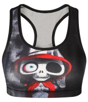 Chic U Neck Skulls Printed Women's Tank Top