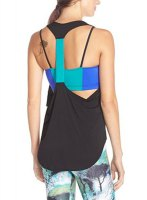Stylish Racerback Hit Color Yoga Tank Top For Women