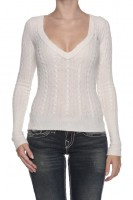 Abercrombie & Fitch Pullover MEMORIA1-Naturweiss-S