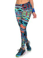 Fashionable Mid-Waisted Slimming Printed Leggings For Women