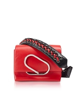 3.1 Phillip Lim Alix Micro Sport Scarlet Leather Crossbody Bag