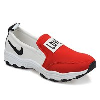 Leisure Women's Athletic Shoes With Color Block and Letter Design