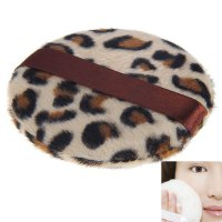 Exquisite Leopard Grain Make-up Soft Powder Puff Sponge for Face Facial Foundation Cosmetic