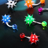 Chic Colorful Ball Pattern Pendant Belly Button Ring For Women