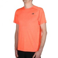 New Balance Shortsleeve Heather Tech Tee Orange