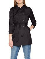 ONLY Damen Mantel Onllucy Long Trenchcoat CC OTW, Blau (Night Sky Night Sky), 40 (Herstellergröße: L) (15144761-Night Sky)