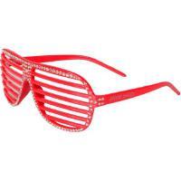 MasterDis Special Groove Shades Sonnenbrille Rot Silber