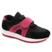 Fashionable Women's Athletic Shoes With Velcro and Color Block Design