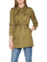 ONLY Damen Mantel Onllucy Long Trenchcoat CC OTW, Grün (Military Olive Military Olive), 40 (Herstellergröße: L) (15144761-Military Olive)