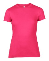 Anvil T-Shirt - Basic Fashion Tailliert - Hot Pink-M