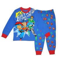 Sports Superhero Print Long Sleeve T-Shirt + Pants Twinset For Boys
