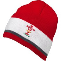 Canterbury Of New Zealand Unisex Rugby World Cup WRU Wales Beanie Mütze Rot