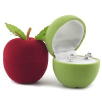 ONE PIECE Cute Apple Shape Jewelry Box For Women