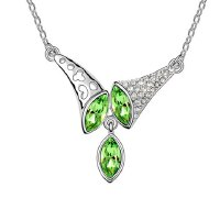 Sparking Rhinestoned Horn Decorated Pendant Necklace For Women
