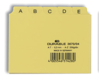 Durable 367004 Durable Leitregister A-Z, A7, 5/5-tlg. PP gelb