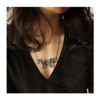 New Arrival Blue Butterfly Embellish Necklace For Female