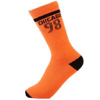Pair of Fashionable Numbers Stripe Letters Pattern Breathable Sport Socks For Men