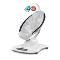 4moms 3D-Babywippe mamaRoo Silver Plush