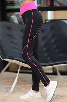 Active Style Elastic Waist Stretchy Color Splicing Yoga Pants For Women