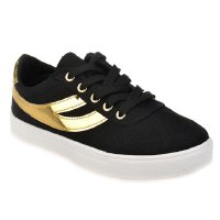 Trendy Women's Athletic Shoes With Round Toe and Color Block Design