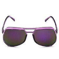 Stylish Candy Color Transparent Frame Sunglasses For Women
