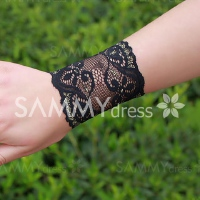 Elegant One Piece Solid Color Lace Flower Bracer For Women