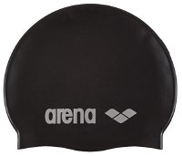 Arena Unisex Badekappe Classic Silicone, black-silver, One size,91662 (91662)