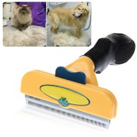 4 Inch Edge Shedding Tool Long Hair Cleaning Brush for Large Dog Cat Pet
