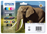Epson Elephant Multipack 6-colours 24XL Claria Photo HD Ink (C13T24384011)