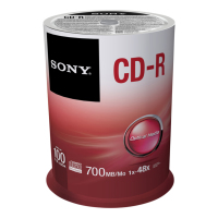 Sony 100 x CD-Rs 700 MB (100CDQ80SP)