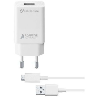 Cellular Line Adaptive Fast Charger Kit 15W (ACHSMKIT15WMUSBW)